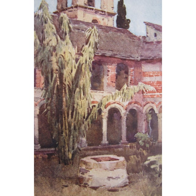 1905 Ella du Cane Print, Il Chiostro di Piona, Lago di Como - Image 5 of 5
