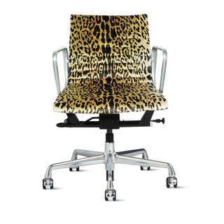 Eames Management Office Chair in Scalamandre Leopard