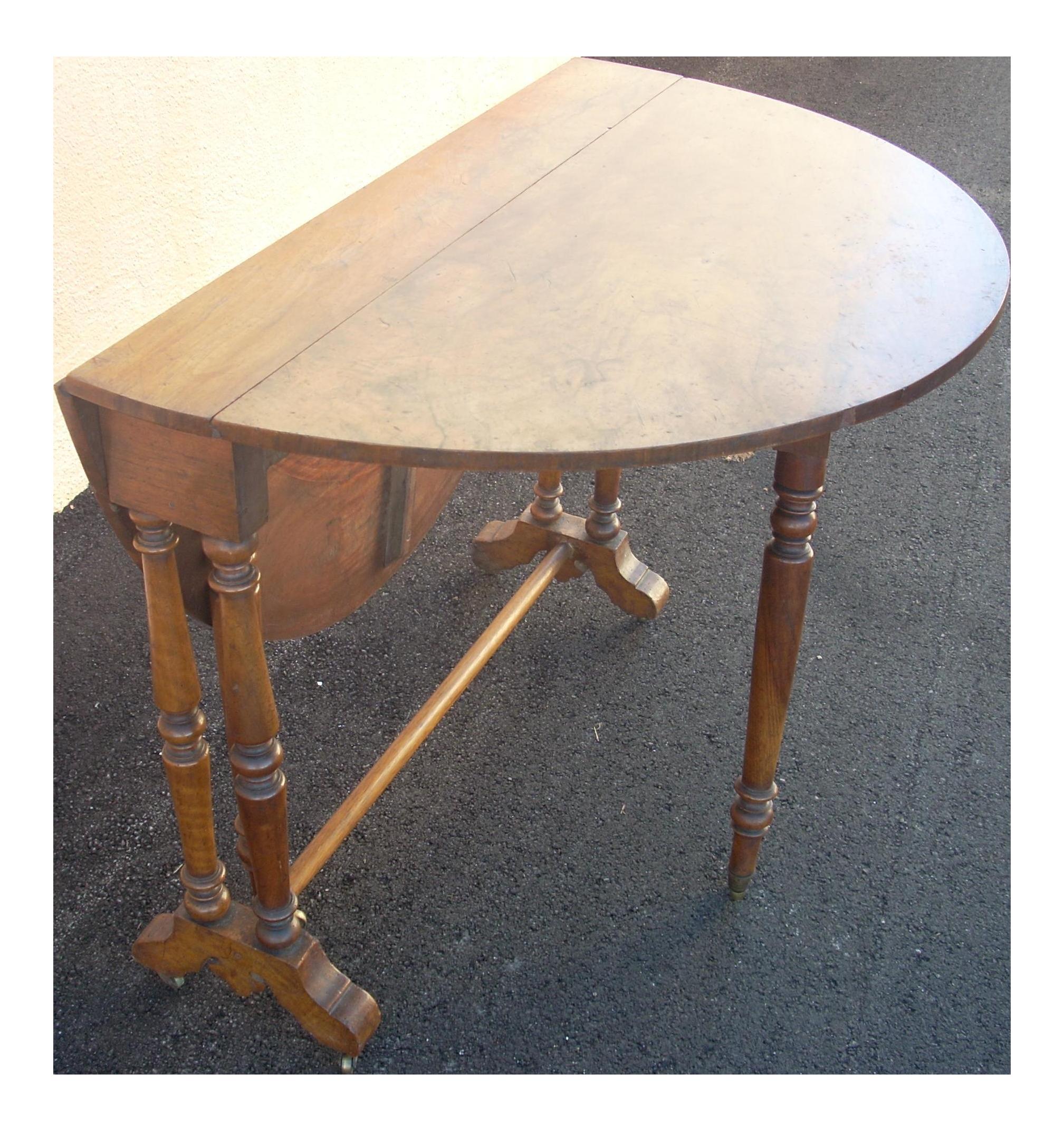vintage gate legdrop leaf table