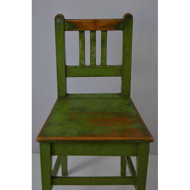 English Green Painted School House Chairs A Pair Chairish