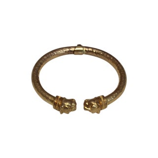 Brass Panther Hinged Bangle
