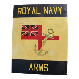 Royal Navy Arms English Pub Sign