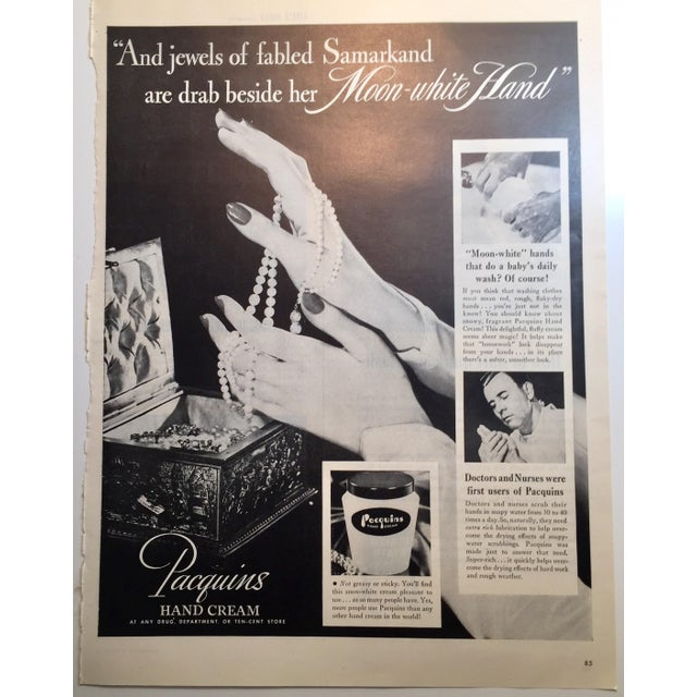 Image of 1946 Vintage Paquin's Hand Cream Ad