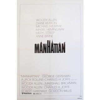 1979 American Woody Allen Movie Poster, Manhattan