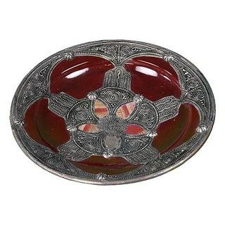 Moroccan Burgundy Ceramic Bowl