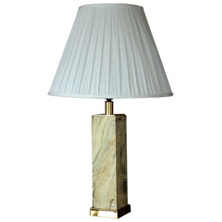 Paul Hanson Resin & Brass Lamp