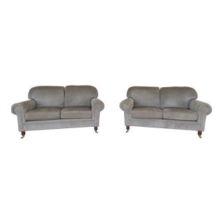 Calico Corners Traditional Style Settees - Pair