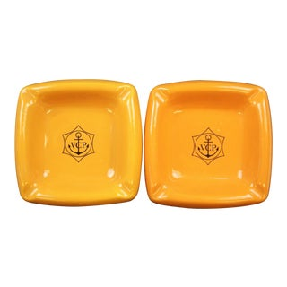 Veuve Clicquot Ponsardin Ceramic Ashtrays - A Pair