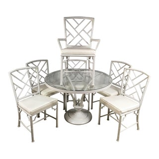 Meadowcraft Faux Bamboo Patio Set