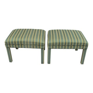 1970s Twill Multi-Color Benches - A Pair
