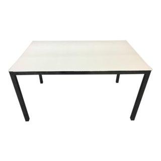 Contemporary Chrome & White Laminate Desk