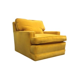 Yellow Velvet Vintage Club Chair