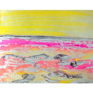 Peace of Mind Monotype on Mulberry Paper