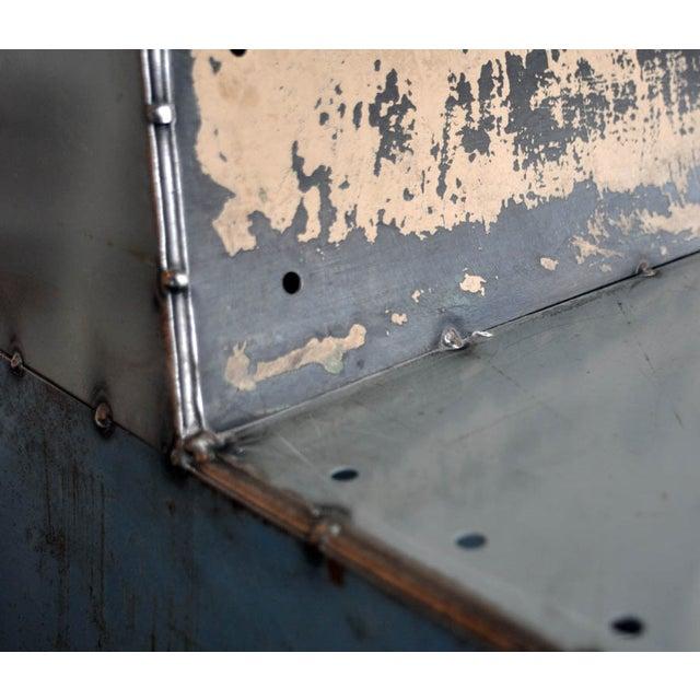 "Blue Metal ""Shoebox"" Chair - Image 2 of 6"
