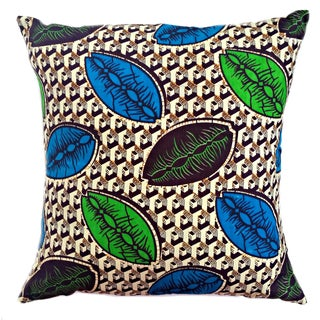 Coffee Bean African Wax Print Pillows - a Pair