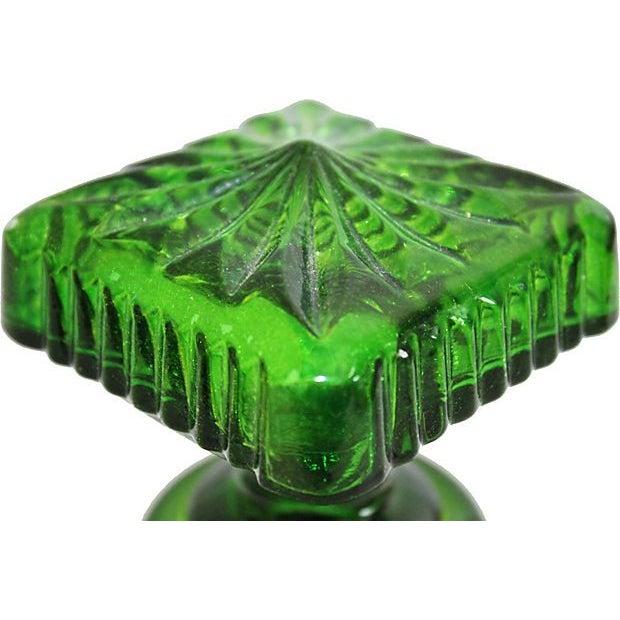 Image of Vintage Emerald Green Decanter