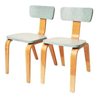 1950s Mid-Century Modern Bentwood Children's Chairs - A Pair
