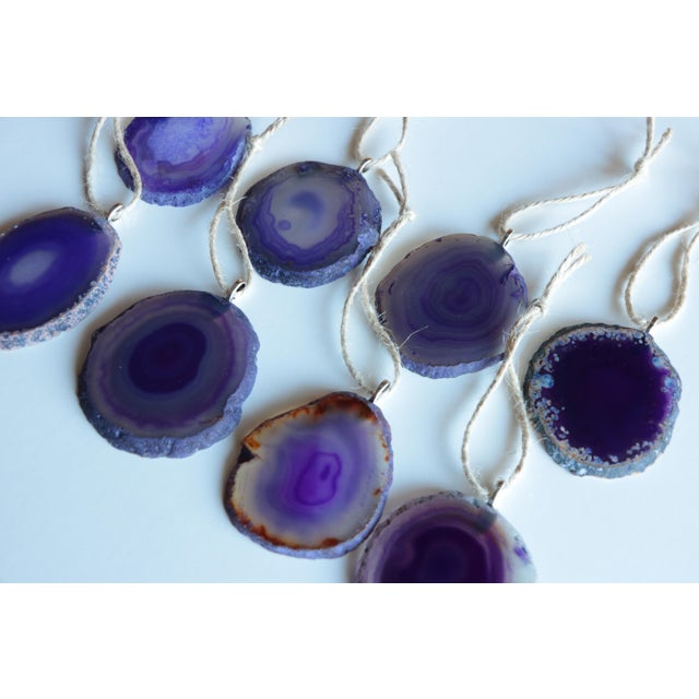 Agate Slice Christmas Ornaments - Set of 8 - Image 3 of 6