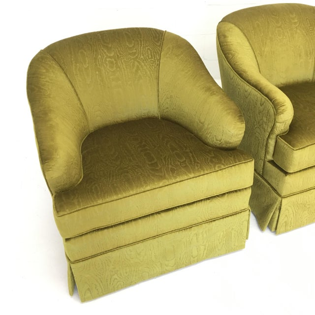 fabric swivel club chairs mid century swivel club chairs in chartreuse moire fabric 15197 | mid century swivel club chairs in chartreuse moire fabric 1339?aspect=fit&width=640&height=640
