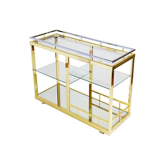 Brass & Chrome Cocktail Trolly - Image 9 of 9
