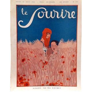 """Geo Gaumet 1920 Le Sourire """"Pinces"""" Cover Print"""