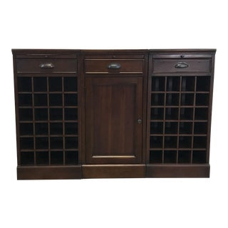 Pottery Barn Wood Wine Rack Cabinet