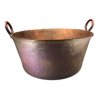 Large Copper Firewood Pot