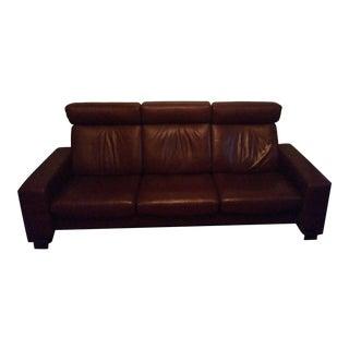Ekornes Stressless Brown Leather Sofa