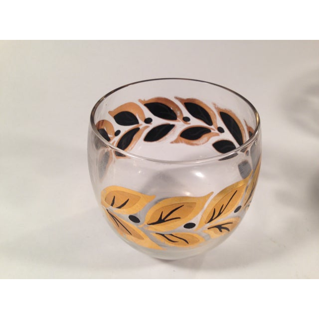 Gold & Black Roly Poly Bar Glasses - S/6 - Image 4 of 8