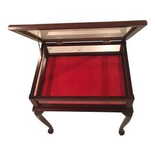 Mahogany Glass Display Case