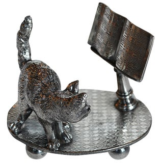 Victorian Cat with Music Stand Napkin Ring
