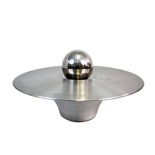 Designer Aluminum Coffee Table With Aluminum Sphere
