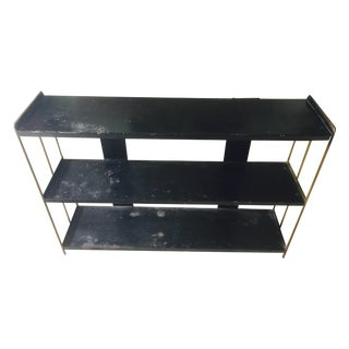 Industrial Distressed Metal Shelf Unit