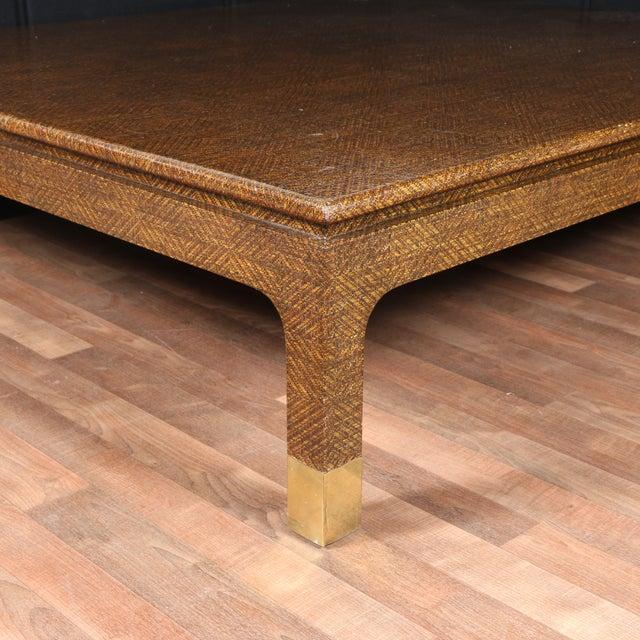 Art Van Coffee Table Sets: Raffia Covered Coffee Table By Harrison Van Horn