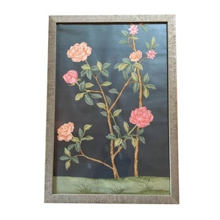 Framed Hand-Painted Chinoiserie Wallpaper