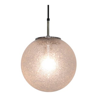 One of 20 Globe Pendant Lamps by Glashütte Limburg
