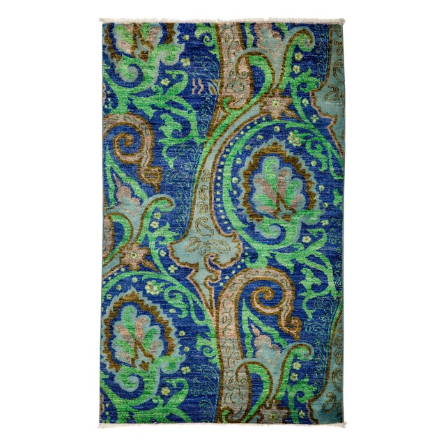 "Image of Suzani Hand Knotted Area Rug - 3'1"" X 5'2"""
