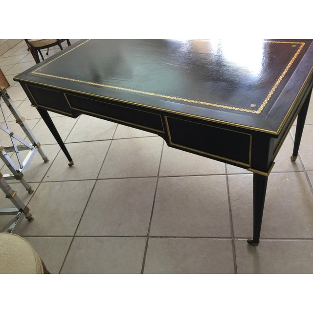 Baker Louis XVI Style Ebonized Gilt Writing Desk - Image 5 of 5