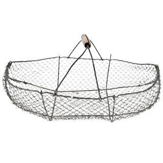 Vintage French Wire Oyster Gathering Basket