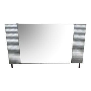 Vintage Ribbed Silver Mirror