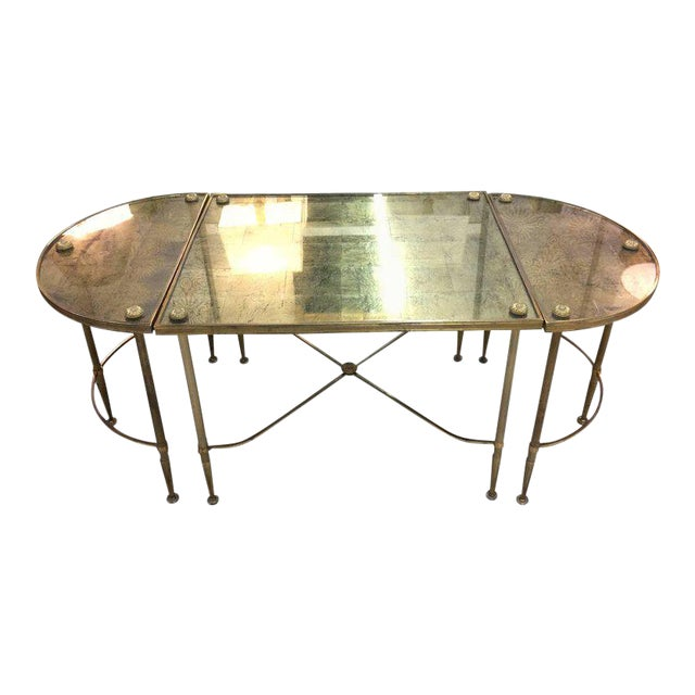 Vintage Oblong Gilded Coffee Table - Image 1 of 9