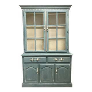 "Blue French Provincial ""Annabel"" China Cabinet"