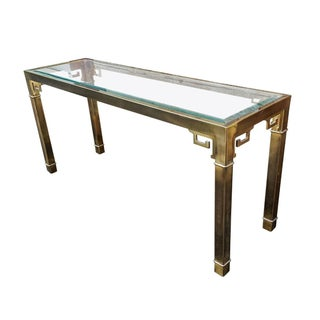 Mastercraft Greek Key Brass Console or Sofa Table