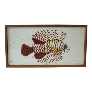 Vintage Enamel on Copper Fish Wall Hanging
