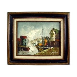 Mid-Century Modern Harbor Scene by Pelbay