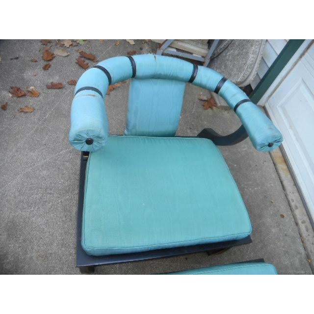 James Mont Style Asian Lounge Chairs - A Pair - Image 4 of 11