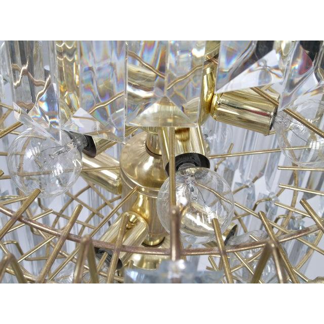7-Tier Brass & Lucite Chandelier - Image 6 of 11