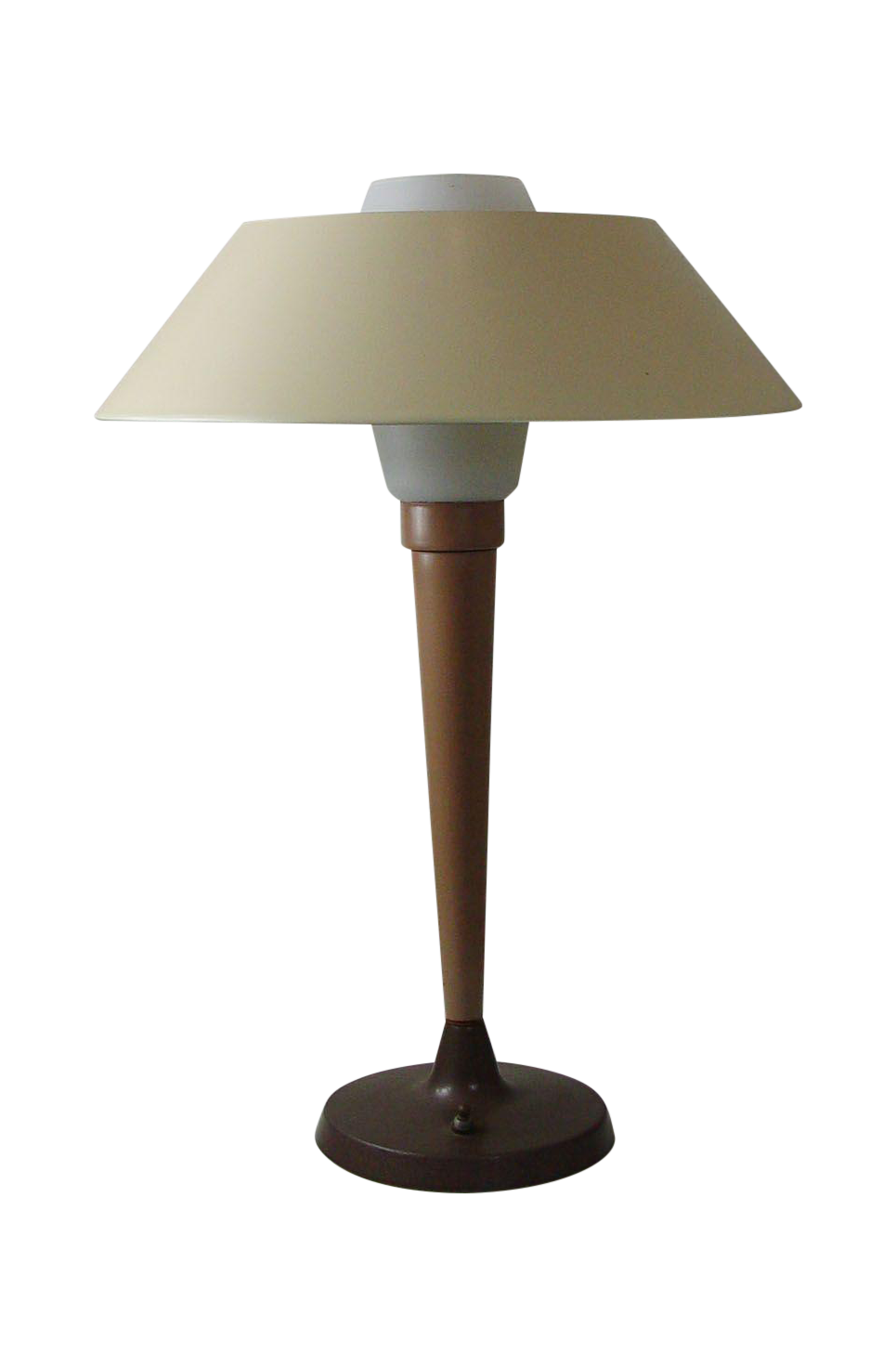 Mid Century Modern Frosted Glass Lamp