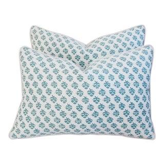 Designer Italian Fortuny Persiano Pillows - Pair