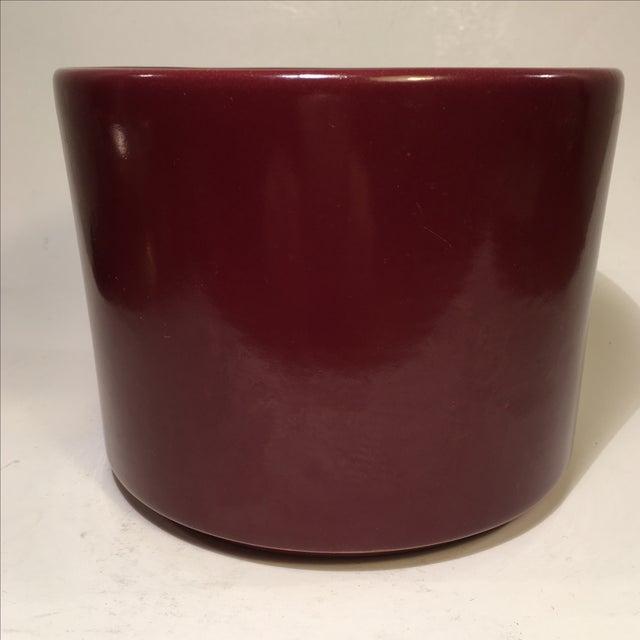 Vintage Gainey Burgundy Gloss Planter - Image 2 of 4